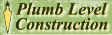 Plumb Level Construction Logo